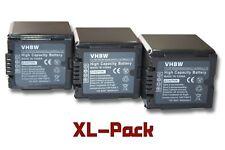 3x Akku für Panasonic HDC-TM350, HDC-TM700, NV-GS320 2000mAh 7.2V Li-Ion