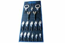 BERGEN 16pc VICE GRIP Locking Pliers Set inc C-Clamps B1746