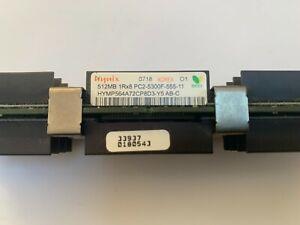 4 x 512mb 1Rx8 PC2-5300F-555-11 (HYMP564A72BP8D3-Y5 AB-C Memory RAM)