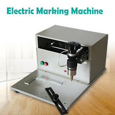 Electric Metal Steel Marking Machine Engraving Name Plate Dog Tag Print Us Stock