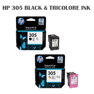 2 CARTUCCE  HP 305 - 1 BK + 1 TRICOLOR ORIGINALI 3YM61AE + 3YM60AE