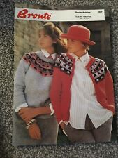 Vintage Bronte DK Fairisle Knitting Pattern 037 Ladies Jumper & Cardigan (2060)