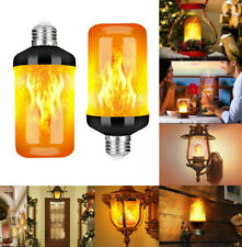 4Mode E27 E26 B22 LED Flame Light Bulb Simulated Burning Fire Effect Party Lamp