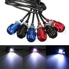 2x Motorcycle Screw White LED Bolt-On Lamp Car Universal License Plate Light 12V