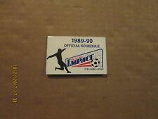 NPSL The Hershey Impact Vintage Defunct Circa 1989-90 Soccer Pocket Schedule