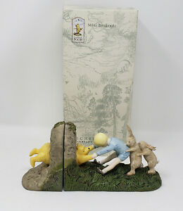 """Disney Classic Winnie the Pooh Mini Bookends """"Wedged Bear"""" Michel & Co 65017 VG"""