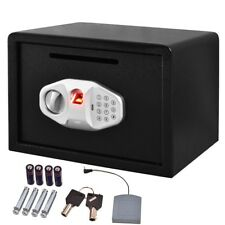 "14"" Biometric Fingerprint Digital Electronic Safe Box Floor Wall Mount w/ Keys"