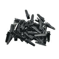 50pcs Black Blank Metal Single Prong Hair Clips Alligator Barrette Findings