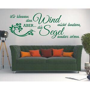 Spruch  WANDTATTOO Wir können Wind Segel Wandsticker Wandaufkleber Sticker 4