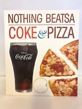 1960's Nothing Beats Coke & Pizza Cardboard Counter Poster Coca-Cola Advertising