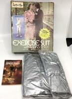 Retro 1980s Exercise Sauna  Space  Suit  Silver Vtg w Box Halloween Costume