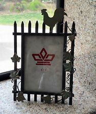 Farmhouse Decor, Rooster, Picture Frame, Buffet Food ID, Menu Holder, Metal, 5x7