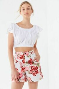 Urban Outfitters Laura Ashley High Rise Floral Print Shorts Size 6