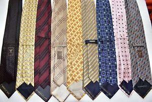 Men's Ermenegildo Zegna Lot of 79 Silk  Neck Tie made in Italy