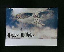 Harry Potter Party Birthday Card Hedwig