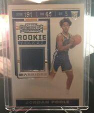 JORDAN POOLE 2019 NBA panini contenders rookie ticket relic card