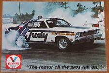 1976 Judy Lilly Valvoline Plymouth Duster NHRA Super Stock postcard
