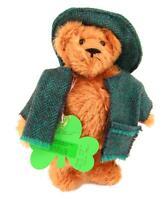 """Artist Leila Stewart Ballythread Ireland OOAK Mohair Teddy Bear Wobble Head 10"""""""