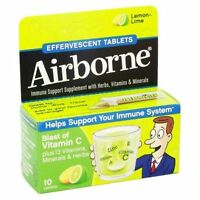 Airborne 10-Count Effervescent Tablets in Lemon Lime Exp.07/19