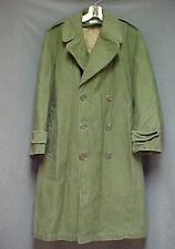 Vintage 1958  Military Sateen OG 107 Overcoat W/Removable Liner Size Small Short