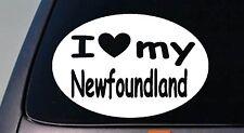 """I LOVE MY NEWFOUNDLAND DOG WATER SWIM 6"""" STICKER CAR TRUCK WINDOW STICKER DECAL"""
