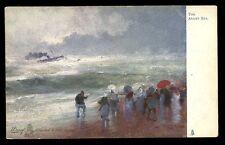 Angry Sea artist drawn Professor Van Hier Tuck 2573 Vintage u/b PPC gold edged