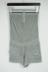 NIKE SOLID TERRY COVER UP 417334-063 Women's X SMALL Sports Romper 40022_ES