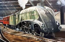 MALLARD AT NEWCASTLE STATION ,SIGNED PRINT THE PARNHAM GALLERY