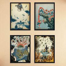 Japan World War 2 Ukiyoe Art Paint Silk Canvas Poster Art Decor Unframed U102