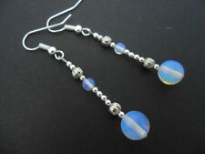 Opalite Silver Plated Costume Earrings