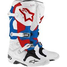Alpinestar Tech 10 weiß blau rot  Gr. 11 / 45.5  - Stiefel - Boot