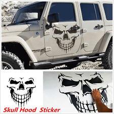 1X Car SUV Black Skull Skeleton Hood Decal Vinyl Sticker For Side Door Rear Roof