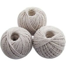 3 Pc Cotton Twine Ball Garden String Rope Household New - Amtech
