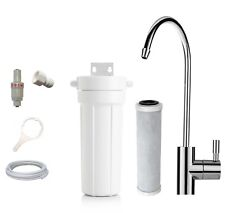 Compact Undersink Water Filter System + Premium 0.5 Micron Carbon Filter