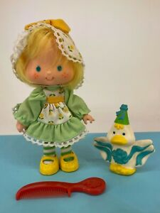 Vintage 1980s Strawberry Shortcake - Party Pleaser Mint Tulip with Marsh Mallard
