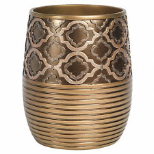 Popular Bath Spindle Gold Collection Bathroom Waste Basket