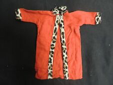 Vintage Barbie Doll Clothes Mattel Fashion Coat Homemade Red Leopard 1960's