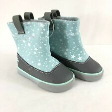 See Kai Run Basics Toddler Girls Ripley Boots Stars Slip On Blue Gray Size 4