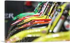 ARTCANVAS Row of Dirtbikes Canvas Art Print