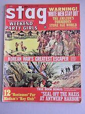 Stag Mens Magazine- April 1964- V15 N4 - Adventure