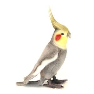 Grey Cockatiel Realistic Hansa Soft Animal Plush Toy 23cm **FREE DELIVERY**