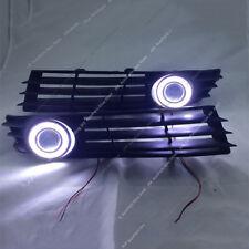 For VW Passat B6 2007-2011 DRL Fog Lamps +  Lens COB Angel Eye Bumper Cover k