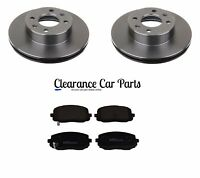 FOR MAZDA 3 1.4 1.6 PETROL 2004 TO 2009 REAR BRAKE DISCS AND PADS 265MM
