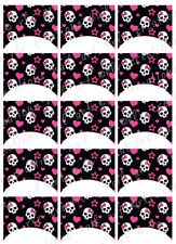 15 FRENCH NAIL TIPS *GIRLY PUNK SKULLS* WATERSLIDE NAIL ART DECALS Nail Decal