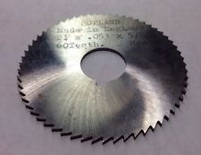 "RUTLAND ENGLAND 2-1/4"" x .051 x 5/8""  60 Teeth HSS 1"" Arbor Metal Slitting Saw"