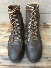Men's Vintage Brown Leather Lace Up Steel Toe Lace up Ankle Boots