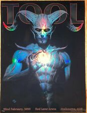 Tool Poster Melbourne Australia Laver Arena 2020 Adi Granov /500 concert tour