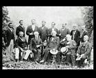 General Robert E Lee + His Generals Rare PHOTO Rebel Confederate Civil War, 1869