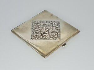 Antique Art Nouveau Continental Silver Cigarette Case  Early 20th Century