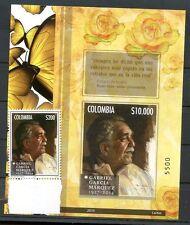 COLOMBIA GARCIA MARQUEZ 2014 Block + Stamp